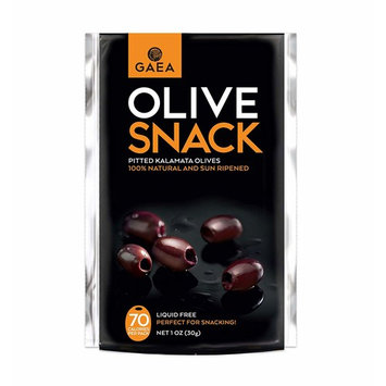 Gaea Snack Pack Pitted Kalamata Olives with Sea Salt and Vinegar - 1 oz (Pack of 10)