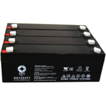 SPS Brand 12V 2.3 Ah Replacement Battery for Siemens 300 (4 pack)