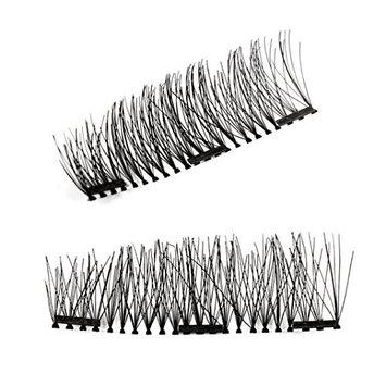 Kelly Double 3D Magnetic False Eyelashes Natural Eye Lashes Extension Handmade 2017