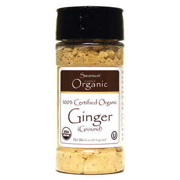 Swanson 100% Certified Organic Ginger (Ground) 1.6 Ounce (45.4 g) Pwdr
