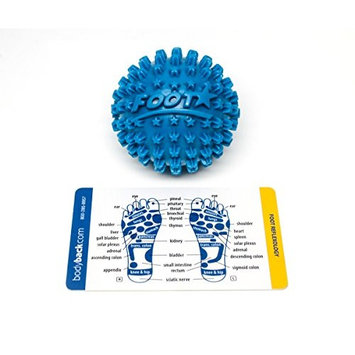 Foot Star 2 Inch Massage Ball Plantar Fasciitis Foot Massager & Travel Accessories for Myofascial Tension Release, Trigger Point Therapy, Stress & Pain Relief in...