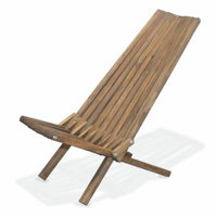 GloDea X45 Natural Lounge Chair, Expresso Brown