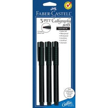 FABER-CASTELL Black 3Pkg-Calligraphy Pen 2mm