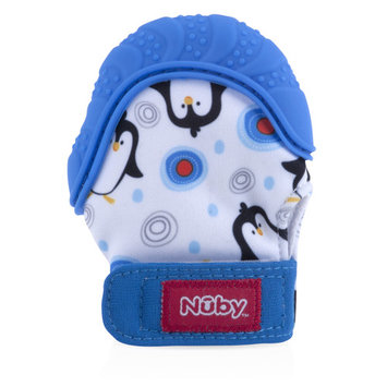 Nuby Teething Mitten with Hygienic Travel Bag, Styles May Vary, 1 Pack
