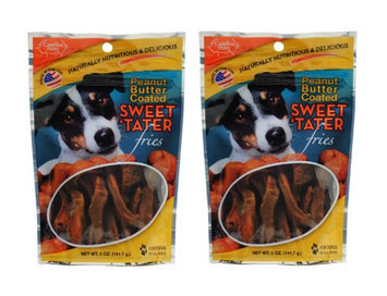 Carolina Prime Pet Peanut Butter Coated Sweet Tater Fries, 5oz (Pack of 2)