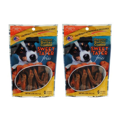 Carolina Prime Pet Peanut Butter Coated Sweet Tater Fries, 5oz (Pack of 2)
