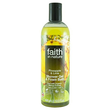 Faith in Nature Pineapple & Lime Foam Bath & Shower Gel 400ml (Case of 6)