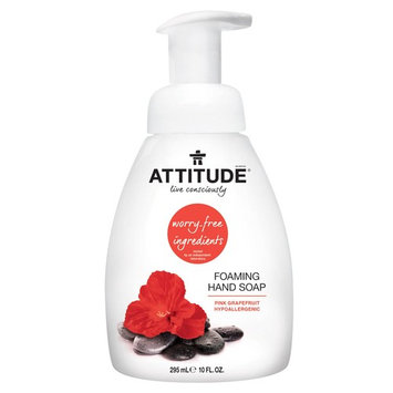 ATTITUDE, Foaming Hand Soap, Pink Grapefruit, 10 fl oz (295 ml) [Scent : Pink Grapefruit]