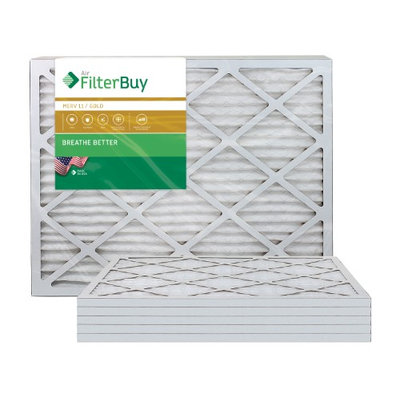 AFB Gold MERV 11 20x36x1 Pleated AC Furnace Air Filter. Filters. 100% produced in the USA. (Pack of 6)