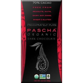 Pascha Organic Dark Chocolate 70% Cacao 3.5Oz (Pack Of 10)