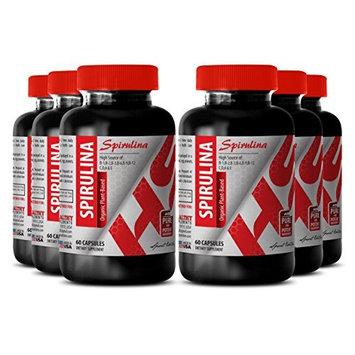 Spirulina superfood powder - SPIRULINA ORGANIC PLANT-BASED 500 MG - boost immunity (6 Bottles)