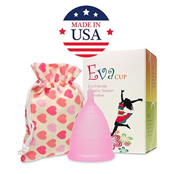 Anigan Reusable Menstrual EvaCup, 2 Pack, Large, Cherry Blossom