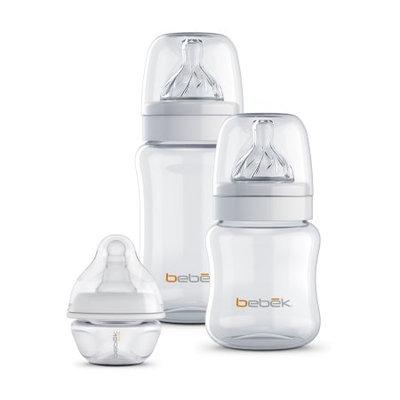 Bebek Baby Products Inc 5 oz + 9 oz Bebek Classic Anti Colic Clear BPA-Free Bottle with Sense-Flo Hospital Grade Silicone nipples