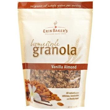 Erin Baker's Homestyle Granola, Vanilla Almond Quinoa, Gluten-Free, Ancient Grains, Vegan, Non-GMO, Cereal, 12-ounce bag [Vanilla Almond Quinoa]