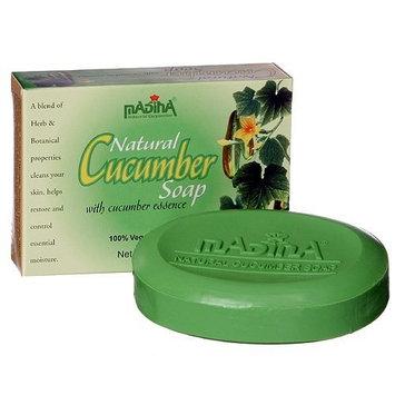 Cucumber Soap Scent Beauty Skin Essential Moisture Herb Aloe Vera Madina 12 Bar