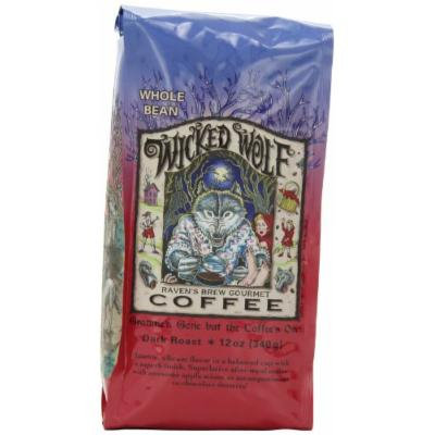 Raven's Brew Whole Bean Coffee, Wicked Wolf Blend, 12 Ounce (Pack of 2)