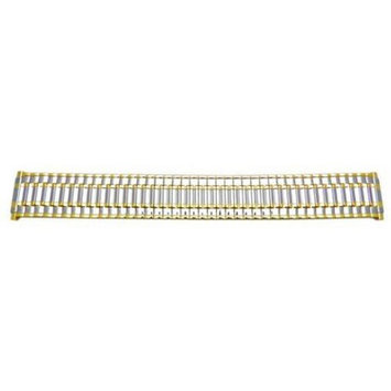Polished Dual Tone 16mm-22mm Expansion Watch Band