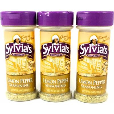 Sylvias Lemon Pepper Seasoning, 5.5-Ounce Containers (Pack of 3)