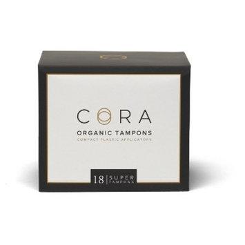 Cora Organic Super Cotton Tampons - 18 Count