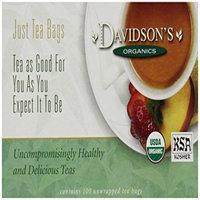 Davidson's Tea Davidson Organic Tea 176 White Pomegranate Tea Box of 100 Tea Bags