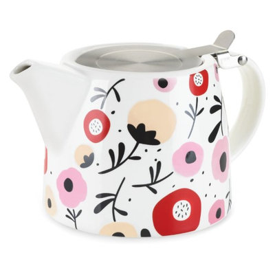 Pinky Up Harper Ceramic Teapot & Infuser in Posy Pattern