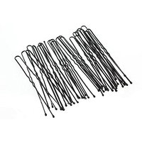Hair Pins Black Waved Bun Pins Longer Length 7cm Classic Hair Accessory Hair Slides Grips Perfect for Buns Up-Dos and More