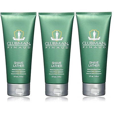[VALUE PACK OF 3] CLUBMAN PINAUD SHAVE LATHER 6 OZ Moisturizing formula : Beauty