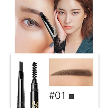 YOYORI Double Head Automatic Rotation Eyebrow Eyeliner Pencil With Brush Makeup Tool