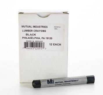 Mutual Industries Lumber Marking Crayons, Water Resistant, 4 1/2' x 1/2', Black (Pack of 12) (Pack of 2)