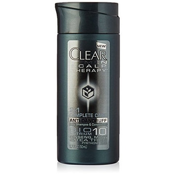 Clear Men 2 in 1 Shampoo + Conditioner Anti-Dandruff Travel Size 1.7 fl oz (Pack of 3)