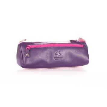Visconti RB61 Leather Small Makeup Cosmetic Bag / Pencil Case/ Brush or Toiletry Case / Supply Holder