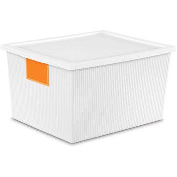 Sterilite Corporation Sterilite 25 Quart ID Box- White (Available in Case of 6 or Single Unit)