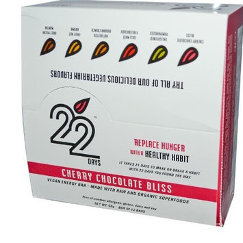 22 Days Bars, Cherry Chocolate Bliss, 50 Gram, 1.76 Ounce [1]