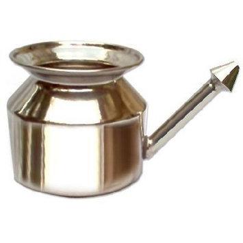 HealthAndYoga(TM) Stainless Steel Neti Pot for Sinus Congestion (Ayurvedic JalNeti)