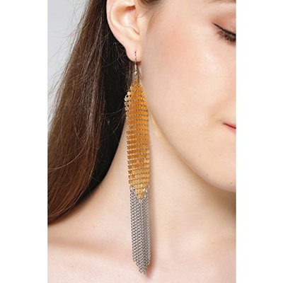 FXmimior Fashion Women Earrings Vintage Gold Bohemian Long Chain Drop Dangle Earrings Jewelry (G