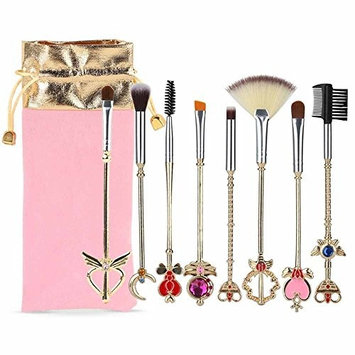 Beauty Warrior 8 Pcs Makeup Brushes Set Foundation Contour Powder Eye Shadow Eyeliner Lip Blending Cosmetic Beauty Make Up Brushes Tools …