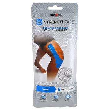 Strengthtape, Kinesiology Athletic Tape, Knee, 6 Precut Strips