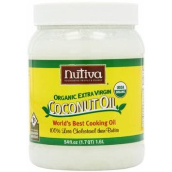 Nutiva Organic Virgin Coconut Oil, 54-Ounce Containers (Pack of 6)