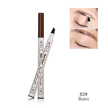 TYJRMusic Flower Eyebrow Pen,Tattoo Eyebrow Pen,Waterproof,Stain resistant,Eyebrow shape is more persistent. (#2 Brown)