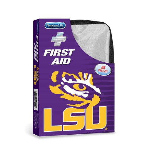 Physicians Care LSU Tigers First Aid Kit, 65 pc