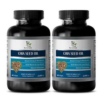 Brain enhancer pills - CHIA SEED OIL - Increase metabolism pills - 2 Bottle 120 Softgels