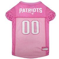 NFL Pets First Pink Pet Football Jersey - New England Patriots