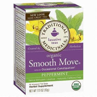 Traditional Medicinal's Peppermint Smooth Move 16 Ct (pack of 3)