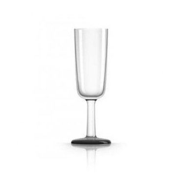 Marc Newson PM823 Flute Glass Nonslip Base Black