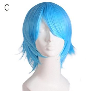 CYCTECH New Popular Men Cosplay Hair Lace Front Wig Short Extensions Hair Synthetic Hairpieces Friendly (MulticolorC)