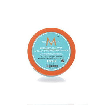 Bon Vivant Salon Moroccan Oil Restorative Hair Mask - 8.5 oz - Intense Thickening And Volume Added Through Mega Protein Depositing Mask For All Hair Types Women Men And Children