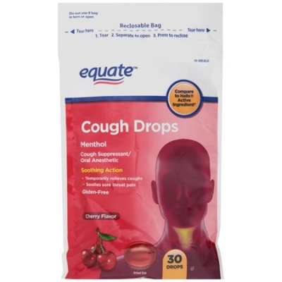 Equate Cherry Flavor Cough Drops, 30 count