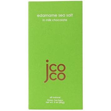Jcoco Non GMO Chocolate Bars: Pack of 6, 3 ounce Gluten-free Chocolate Bars (Edamame Sea Salt)