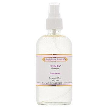 Simply Divine Botanicals Crystal Ally Deodorant, 8 Fluid Ounces (Sandalwood)