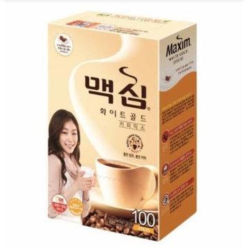 MAXIM Mocha White Gold Mild Instant Coffee Mix - 100 Sticks